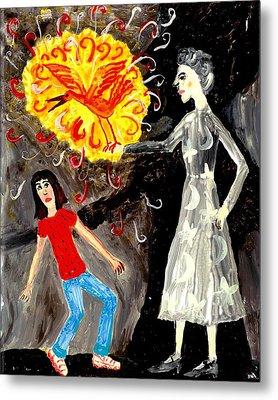 Pyro The Firebird Metal Print by Sushila Burgess