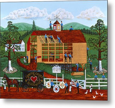 Quakers Acres Metal Print by Joseph Holodook