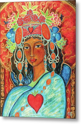 Queen Of Her Own Heart Metal Print by Shiloh Sophia McCloud