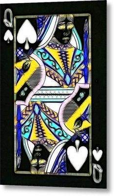 Queen Of Spades - V2 Metal Print by Wingsdomain Art and Photography