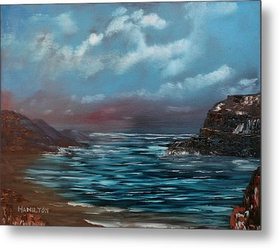 Quiet Bay Metal Print by Larry Hamilton