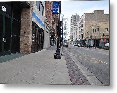 Quiet City Street Metal Print