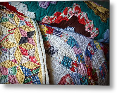 Quilted Comfort Metal Print by Cricket Hackmann