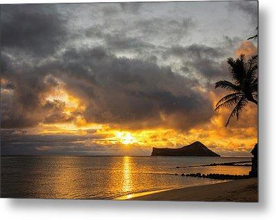 Rabbit Island Sunrise - Oahu Hawaii Metal Print
