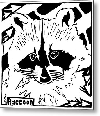 Raccoon Maze Metal Print by Yonatan Frimer Maze Artist
