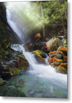 Metal Print featuring the photograph Race Brook Falls 2017 by Bill Wakeley