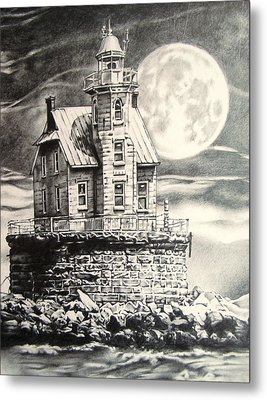 Race Rock Light House Metal Print by Michael Lee Summers