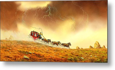 Racing The Storm Metal Print by Don Griffiths
