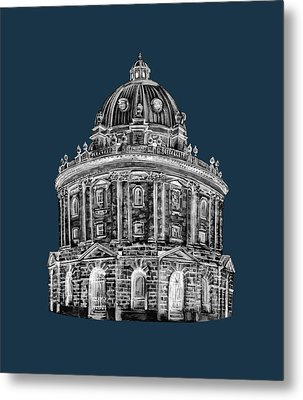 Metal Print featuring the digital art Radcliffe At Night by Elizabeth Lock