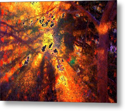 Radiant Ice Crystals - Winter Storm Abstract Metal Print by Rayanda Arts