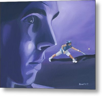 Metal Print featuring the painting Rafael Nadal by Quwatha Valentine