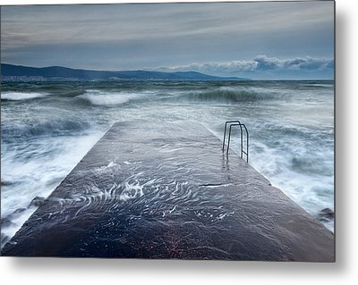 Raging Sea Metal Print by Evgeni Dinev