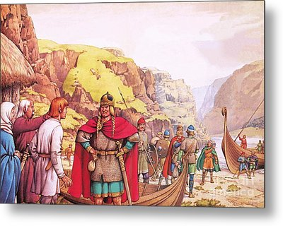 Ragnor Lodbrok, One Of The First Vikings To Raid Britain Metal Print by Pat Nicolle