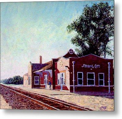 Railroad Station Metal Print by Stan Hamilton