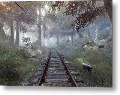 Rails To A Forgotten Place Metal Print by Kai Saarto