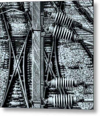 Metal Print featuring the photograph Railway Detail by Wayne Sherriff