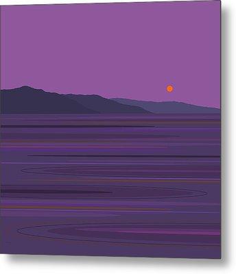 Rain At The Lake Metal Print by Val Arie