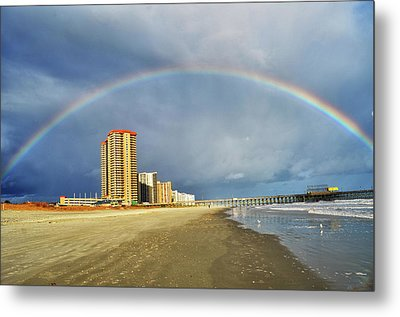 Rainbow Beach Metal Print by Kelly Reber