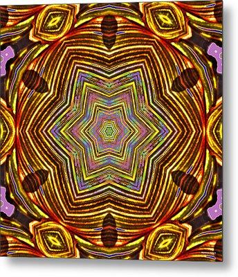 Rainbow Canna Metal Print by Brian Gryphon