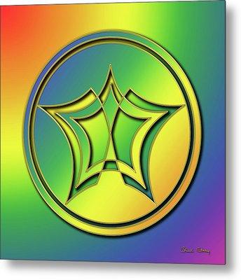 Metal Print featuring the digital art Rainbow Design 1 by Chuck Staley