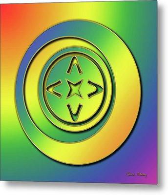 Metal Print featuring the digital art Rainbow Design 2 by Chuck Staley