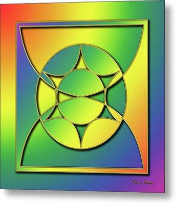 Metal Print featuring the digital art Rainbow Design 3 by Chuck Staley