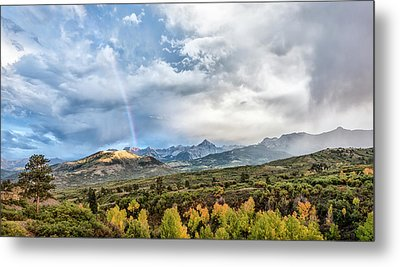 Metal Print featuring the photograph Rainbow In The San Juan Mountains by Jon Glaser