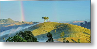 Rainbow Mountain Metal Print by Az Jackson