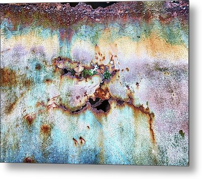 Rainbow Rust Metal Print by Karen Stahlros