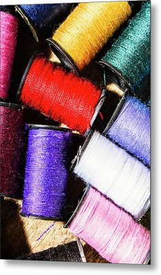Rainbow Threads Sewing Equipment Metal Print by Jorgo Photography - Wall Art Gallery