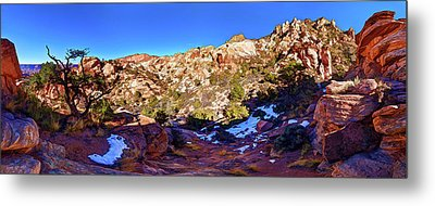 Metal Print featuring the photograph Rainbow Trail 1 by ABeautifulSky Photography