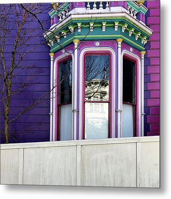 Rainbow Window Metal Print