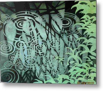Raindrops-on-raindrops Metal Print by Anne Havard
