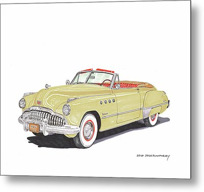 Rainman 1949 Buick Roadmaster Metal Print by Jack Pumphrey