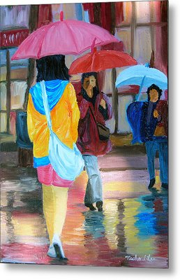 Rainy City Metal Print by Michael Lee