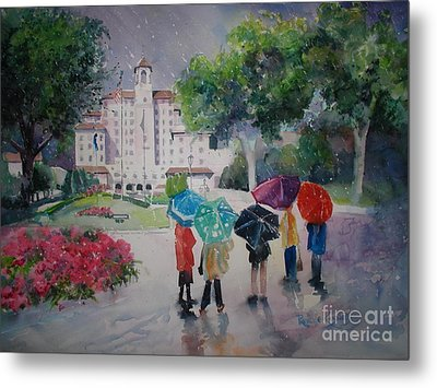 Rainy Day At The Broadmoor Hotel Metal Print by Reveille Kennedy