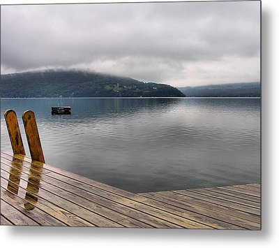 Rainy Day Keuka Metal Print by Steven Ainsworth