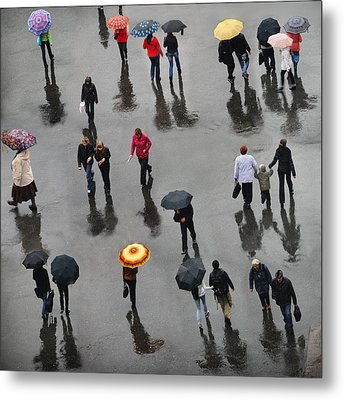 Metal Print featuring the photograph Rainy Day by Vladimir Kholostykh