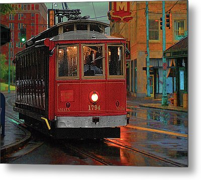 Rainy Night In Memphistenn Metal Print