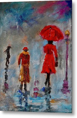 Rainy Spring Day Metal Print by Sher Nasser