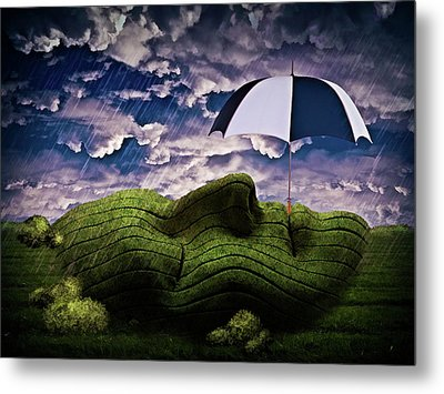 Rainy Summer Day Metal Print by Mihaela Pater