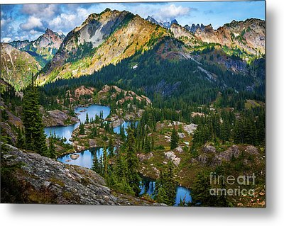 Rampart Lakes Metal Print