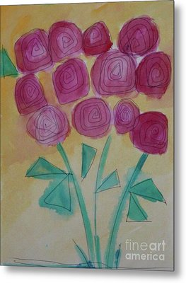 Metal Print featuring the painting Randi's Roses by Kim Nelson