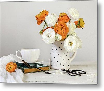 Ranunculus Bouquet Metal Print by Kim Hojnacki