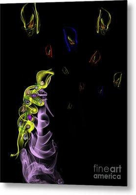 Rapunzel's Magic Flower Braid Metal Print