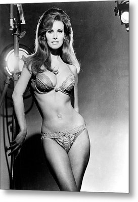 Raquel Welch, Portrait From The Film Metal Print