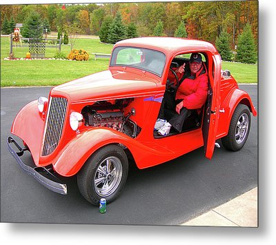 Raring To Cruise Metal Print by Randy Rosenberger