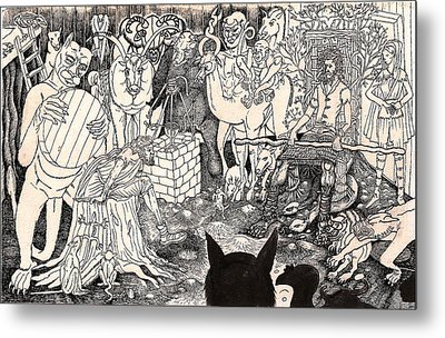 Rathbone Meets The Forest Lord Metal Print by Al Goldfarb