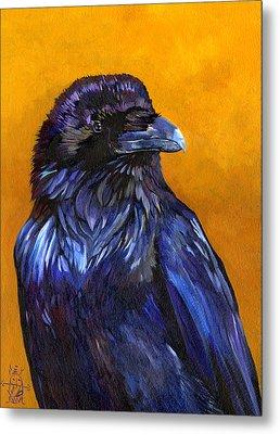 Raven Metal Print