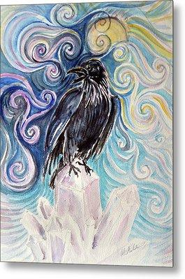 Raven Magic Metal Print